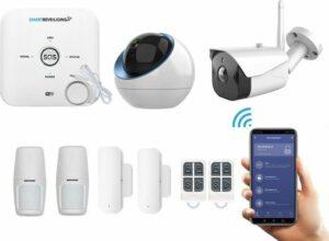 WiFi GSM Draadloos alarmsysteem voor woning met binnen en- buitencamera - Beveiligingssysteem zonder abonnement - Pro pakket - Volledige huisbeveiliging